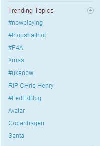 Twitter Trending Topics 20091217
