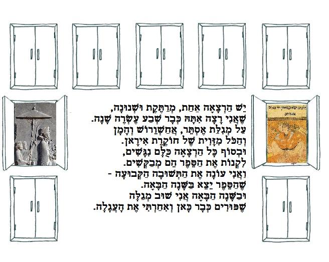 ספר בעקבות הרצאה לפורים על מגילת אסתר